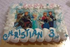 torta frozen 6 e 3 anni